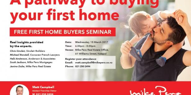 First Home Buyers Seminar - FREE