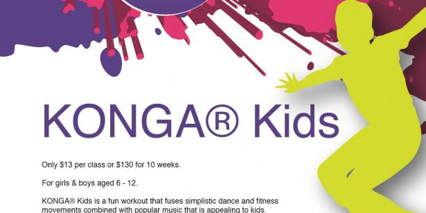 ***Kids Dance Fitness*** En Forme presents KONGA® Kids for ages 6-12 starting 6th May.